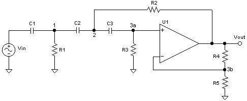 A Sallen-Key 3-Pole Butterworth Active Highpass Filter: Design Sheet